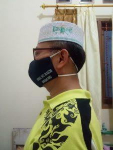 Ketua PW Pergunu Jateng (HM. Faojin, M.Ag., M.Pd.) Memakai Masker SMK NU RAUM Wedung